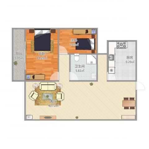 中大君悦金沙三期C12室1厅1卫1厨111.00㎡户型图
