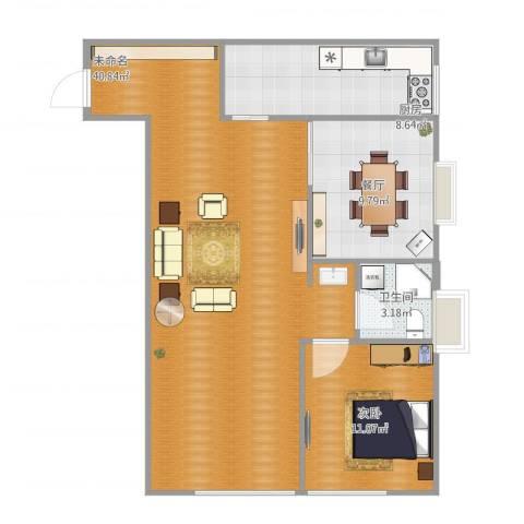 万象上东1室1厅1卫1厨98.00㎡户型图