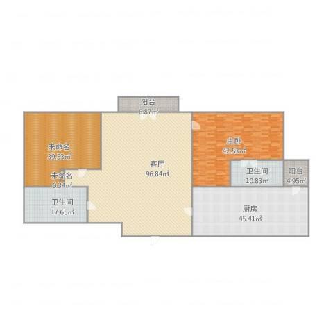 宝翠花园1室1厅2卫1厨345.00㎡户型图