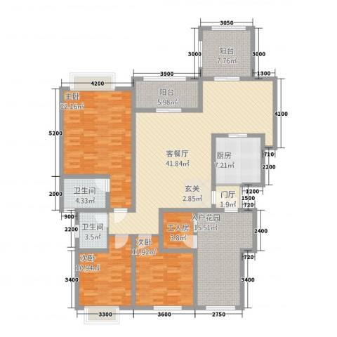 匀上・香格里拉3室1厅2卫1厨1157.00㎡户型图