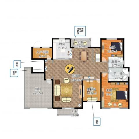 尼德兰官邸2室1厅3卫2厨372.00㎡户型图