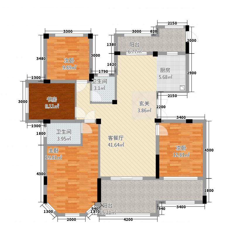 咸亨・康桥120912126.20㎡山语组团6-2户型2室2厅2卫1厨