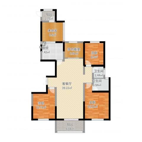 香榭兰廷3室1厅2卫1厨163.00㎡户型图
