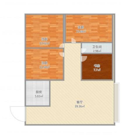 兴业新村4室1厅1卫1厨125.00㎡户型图