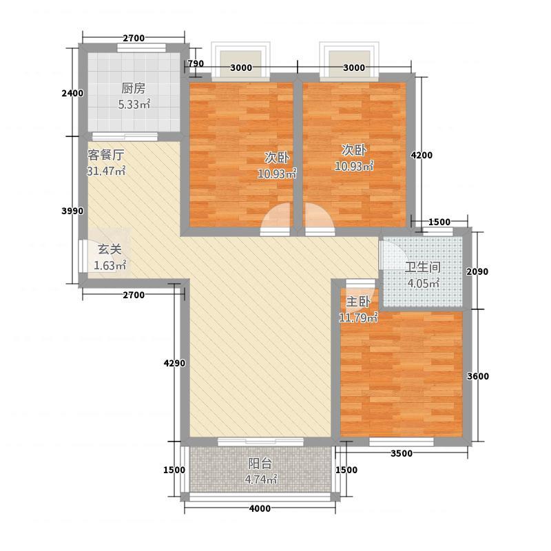 汇缘花庭2312.61㎡户型3室2厅1卫1厨