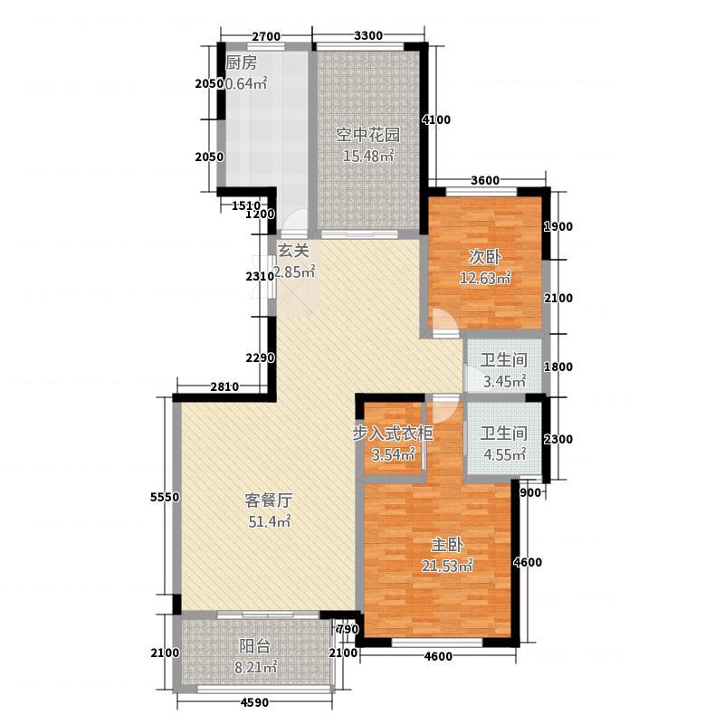 凯泽世纪公园43216.20㎡户型3室2厅2卫1厨