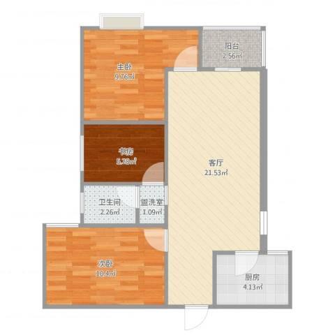 大唐世家3-1-2023室2厅1卫1厨78.00㎡户型图