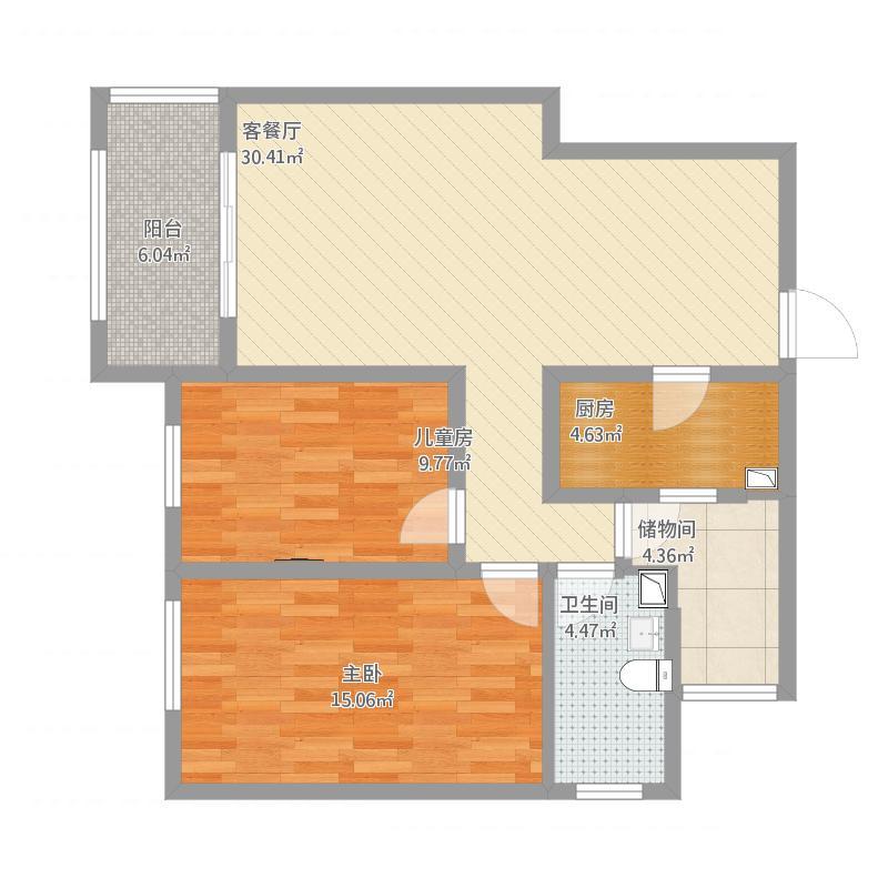 五洲观澜两室两厅