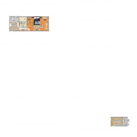 龙华西路81弄小区1室1厅2卫2厨57.00㎡户型图
