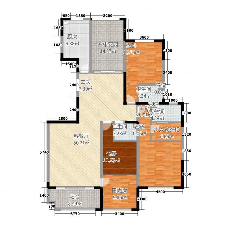 凯泽世纪公园54218.20㎡户型4室2厅3卫1厨