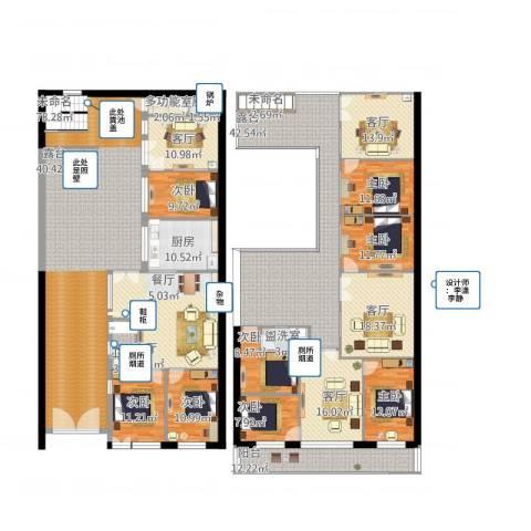 紫光华庭・丽华苑8室6厅3卫2厨457.00㎡户型图