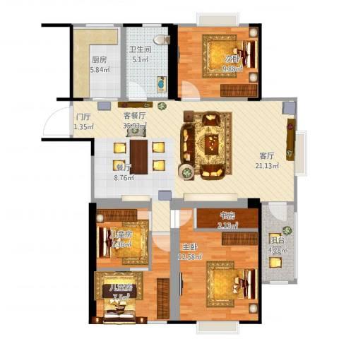 天工・锦绣花园5室1厅1卫1厨125.00㎡户型图