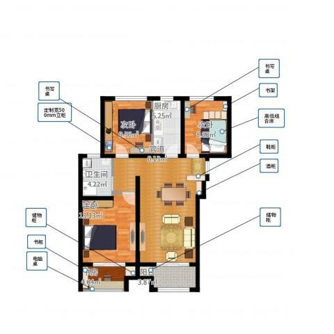 高科绿水东城4室1厅1卫1厨109.00㎡户型图