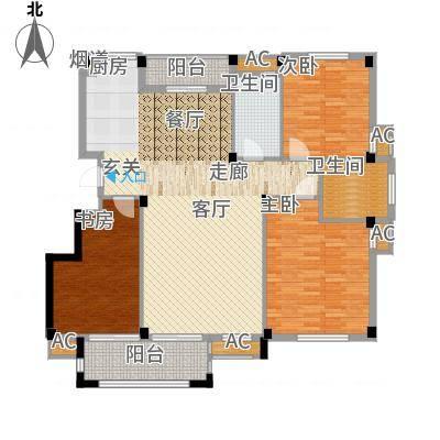 天怡嘉苑138.10㎡高层标准层B面积13810m户型-副本