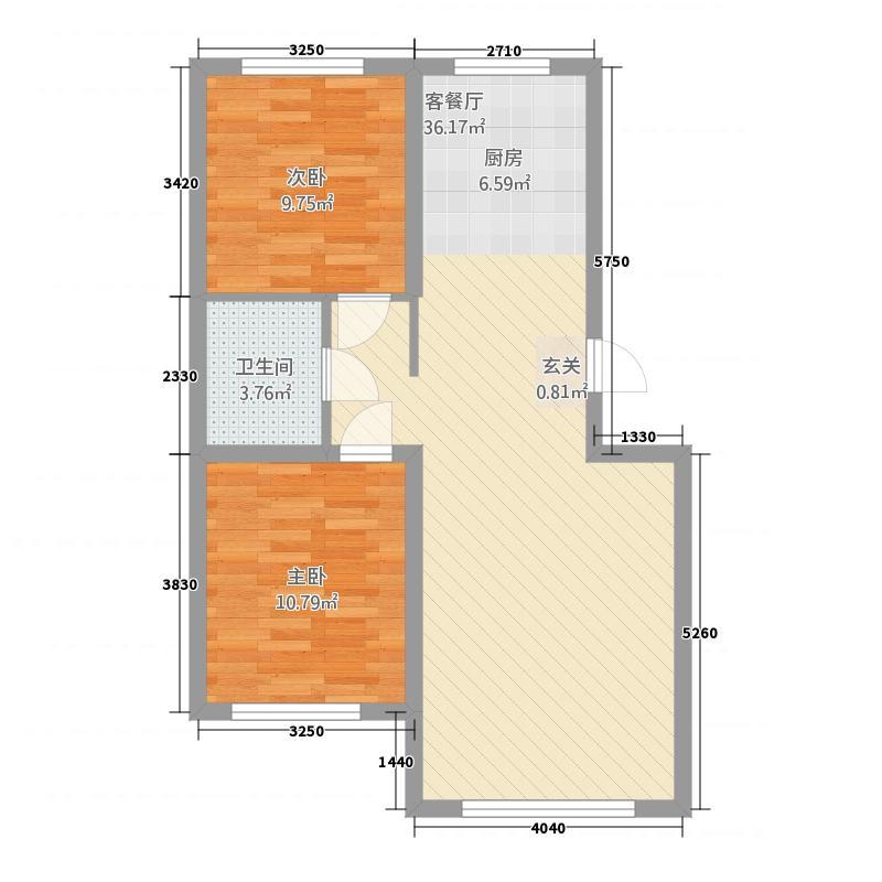 汇德名城486.20㎡置业计划-4A1户型2室2厅1卫1厨
