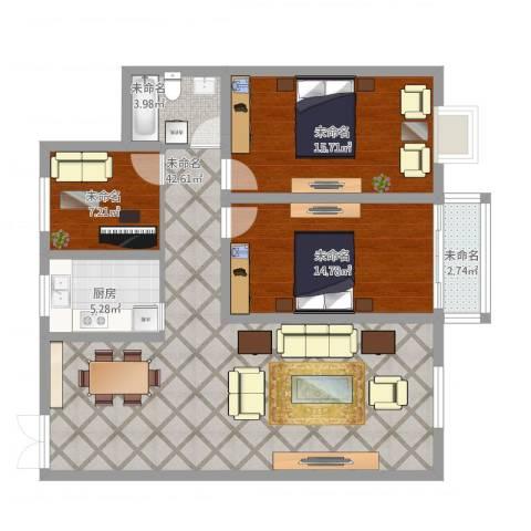 嘉利华府庄园4室1厅1卫1厨131.00㎡户型图