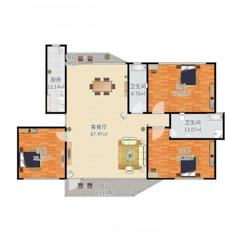 幸福E家四期3室1厅2卫1厨238.24㎡户型图