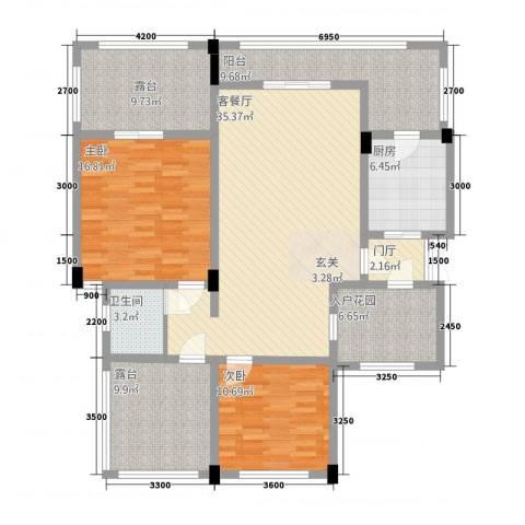 匀上・香格里拉2室1厅1卫1厨110.64㎡户型图