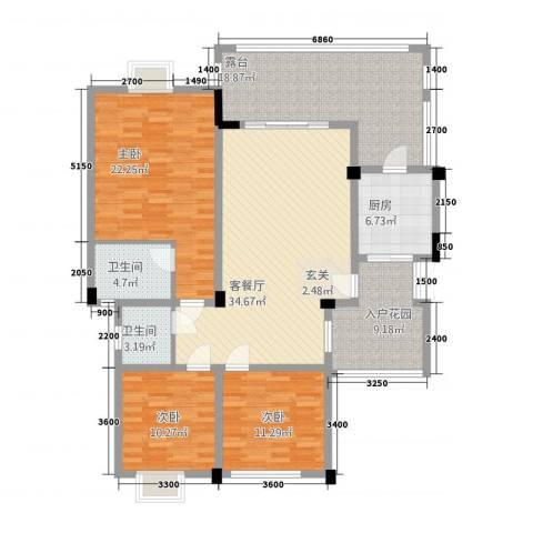 匀上・香格里拉3室1厅2卫1厨3117.00㎡户型图