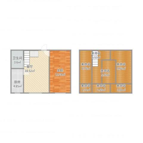 鼎新悦府1室1厅1卫1厨106.00㎡户型图