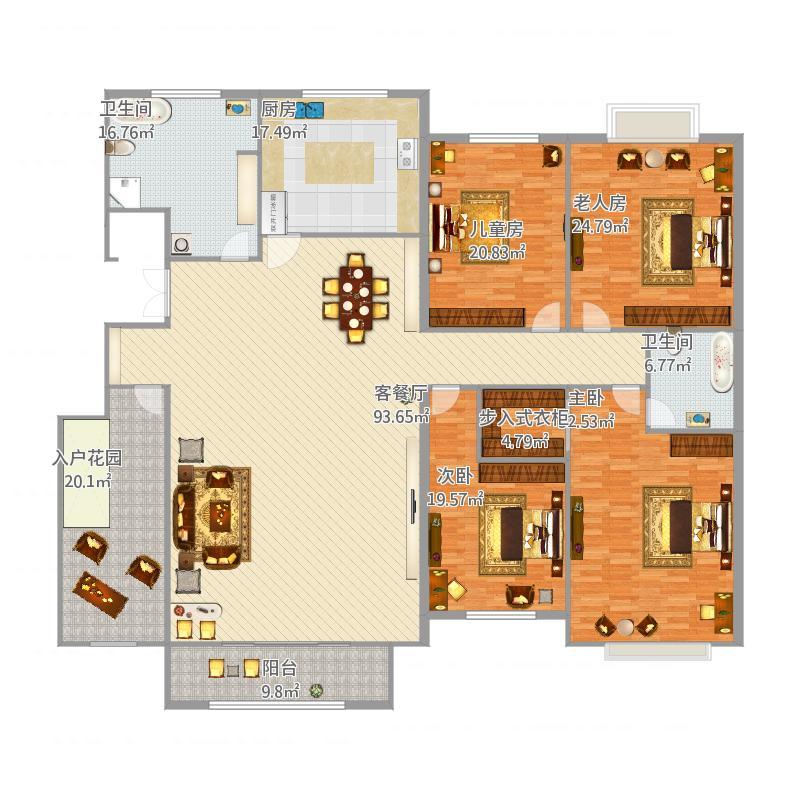 四室两厅欧式