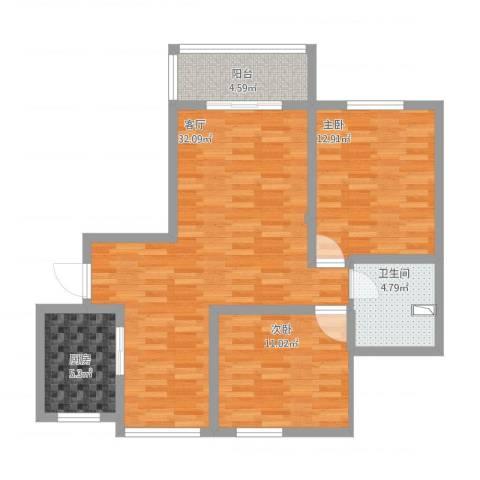 浦江宝邸2室1厅1卫1厨102.00㎡户型图