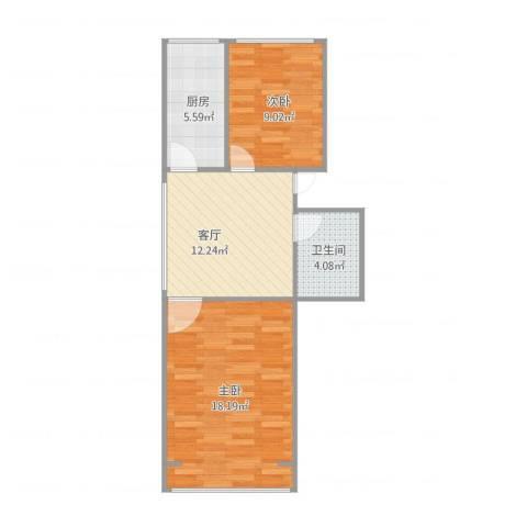 永丰巷2室1厅1卫1厨66.00㎡户型图