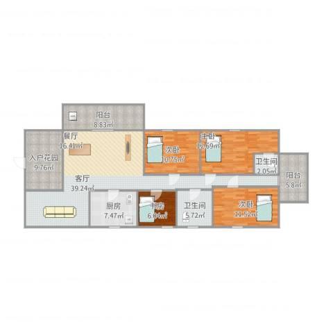 名雅豪庭4室1厅2卫1厨162.00㎡户型图