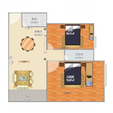 康怡花园2室1厅1卫1厨312.00㎡户型图