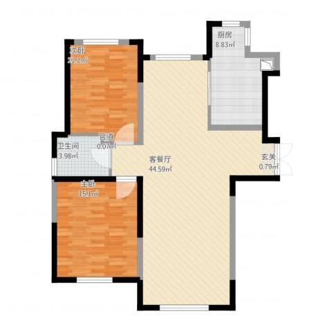 万顺空港融和广场雅仕阁公寓2室1厅2卫1厨119.00㎡户型图