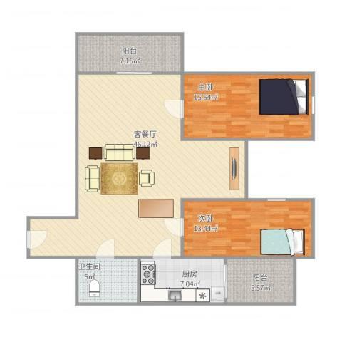 东盛花园1号B座6062室1厅1卫1厨133.00㎡户型图
