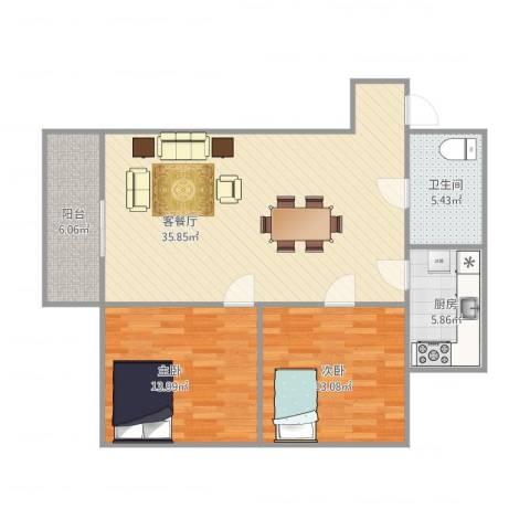 东盛花园1号C座3062室1厅1卫1厨107.00㎡户型图