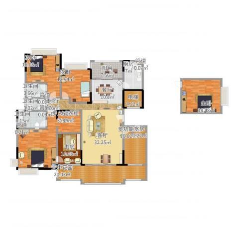 星湖尚景苑5室1厅3卫1厨286.00㎡户型图