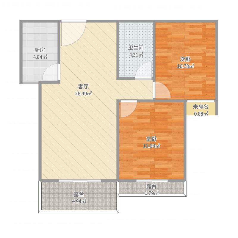 2号楼32层两室两厅一卫