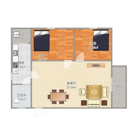 东盛花园1号J座5062室1厅1卫1厨110.00㎡户型图