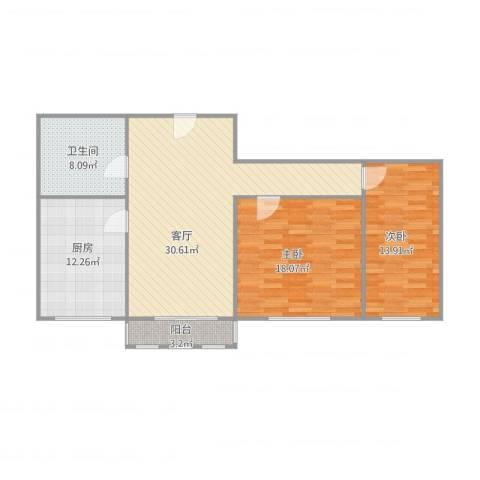 辰发花园8-1-2042室1厅1卫1厨115.00㎡户型图