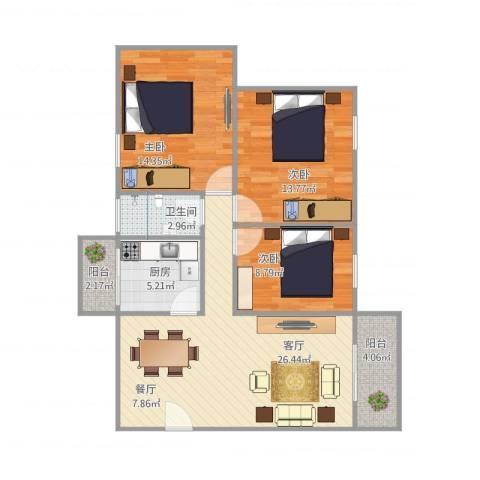 东盛花园1号K座2013室1厅1卫1厨105.00㎡户型图