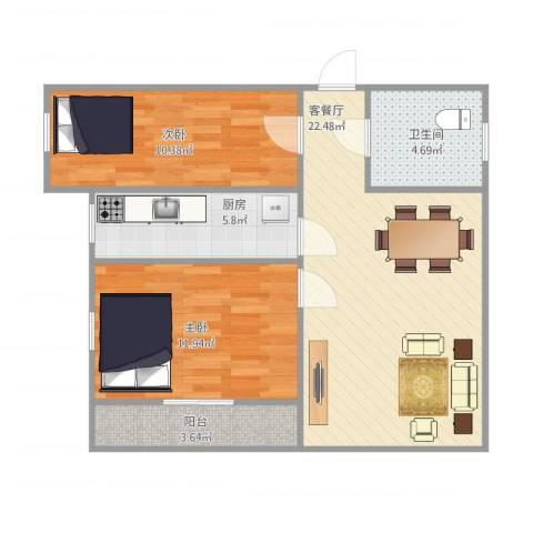 东盛花园1号I座3032室1厅1卫1厨80.00㎡户型图