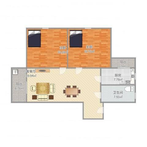 东盛花园1号E座2062室1厅1卫1厨148.00㎡户型图