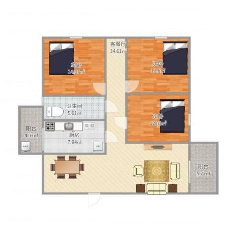 东盛花园1号座5043室1厅1卫1厨131.00㎡户型图