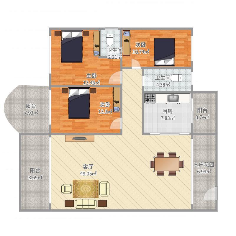 天明豪庭11栋02户型