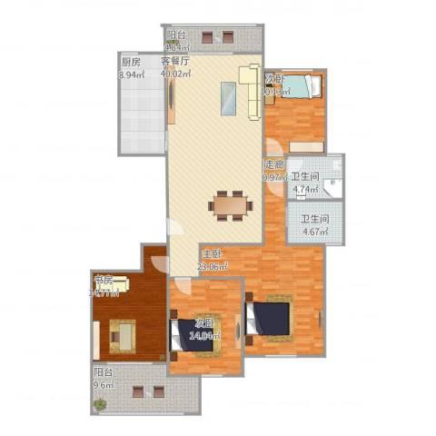 惠来香格里拉花园4室1厅2卫1厨180.00㎡户型图
