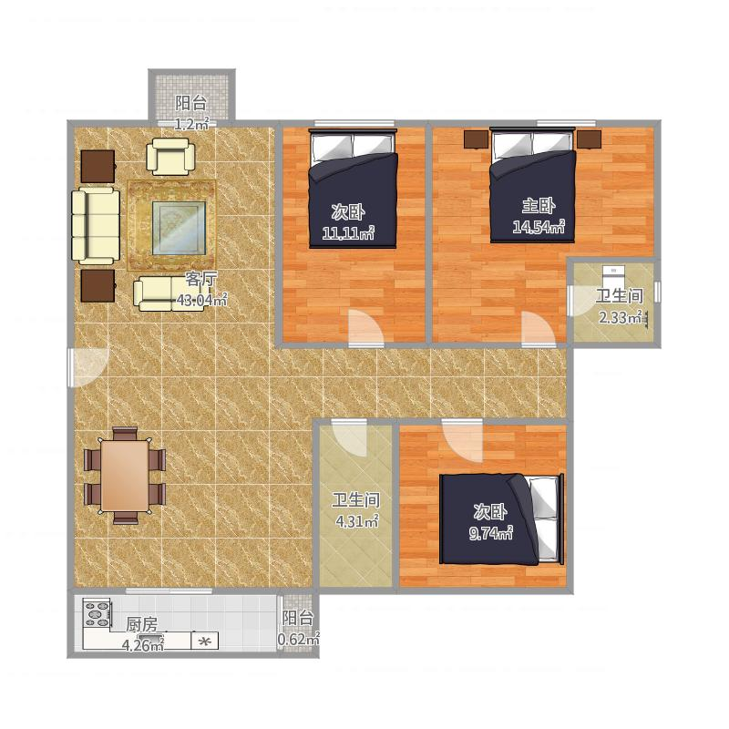 天明豪庭29栋202