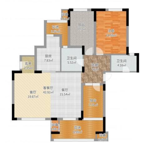万科红郡1室1厅2卫1厨155.00㎡户型图