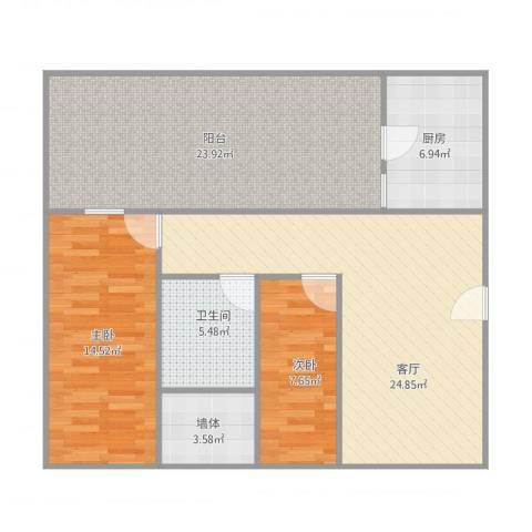 丽新怡苑8座2022室1厅1卫1厨117.00㎡户型图