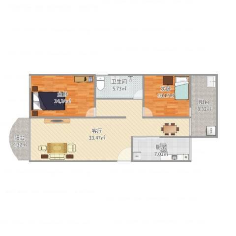 聚贤阁5号4012室1厅1卫1厨106.00㎡户型图