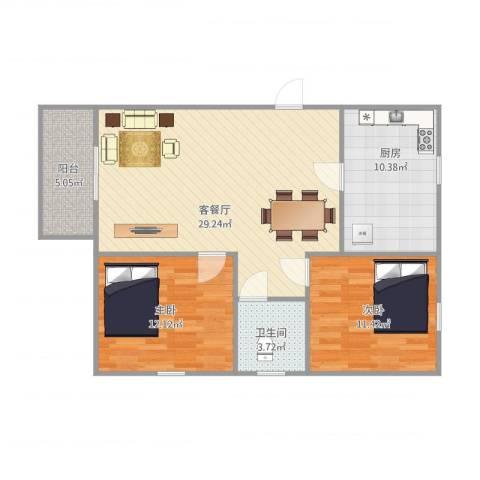 湖景花园4栋5022室1厅1卫1厨96.00㎡户型图