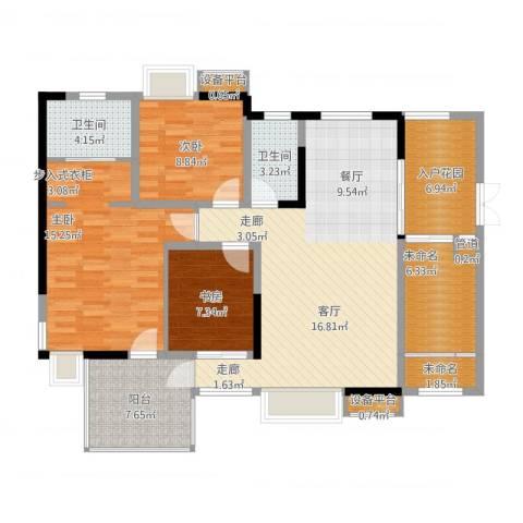 宇界维诗卡3室1厅4卫1厨139.00㎡户型图