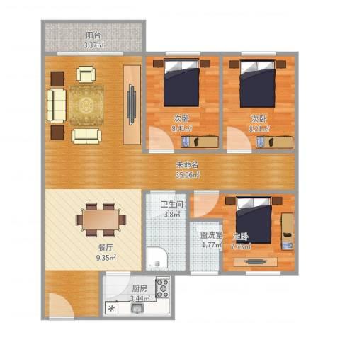 盈兴阁2栋1013室1厅1卫1厨98.00㎡户型图