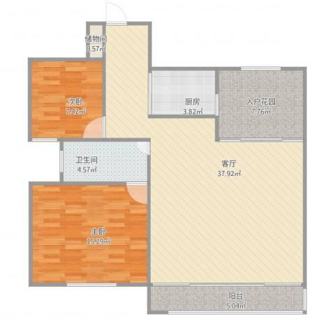绿地望海新都(绿地领御)2室1厅1卫1厨88.80㎡户型图